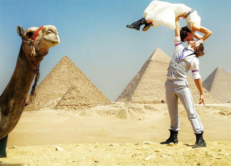 In 83 Tagen an 38 Orten weltweit heiraten