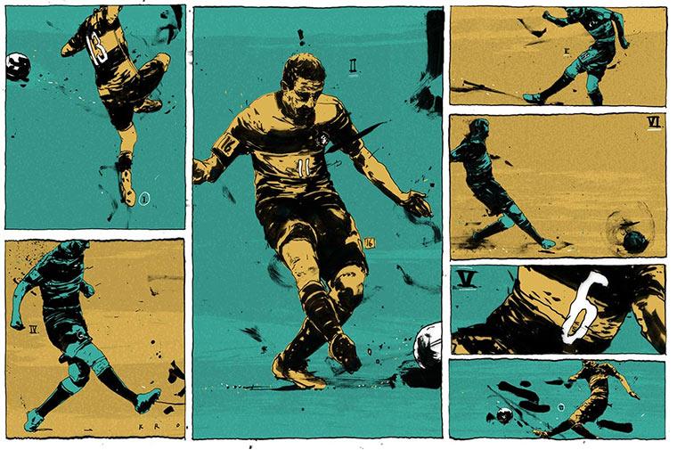 Illustrierte Momente der WM 2014