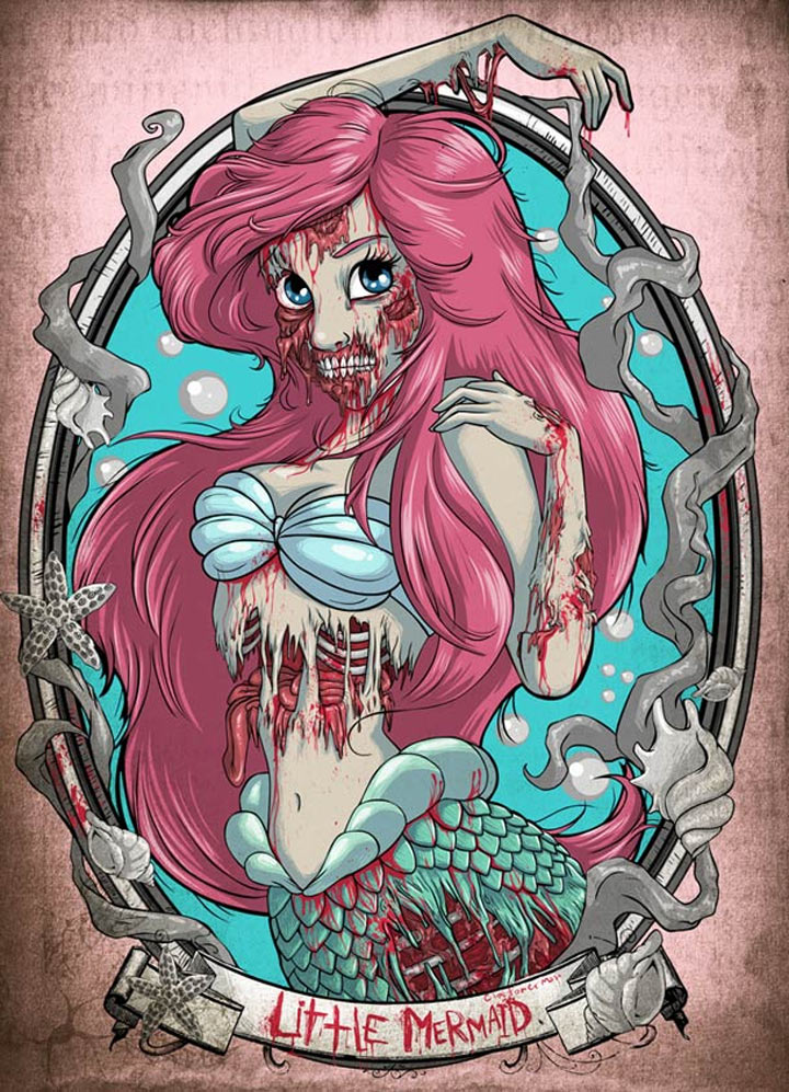 Zombie Disney Prinzessinnen