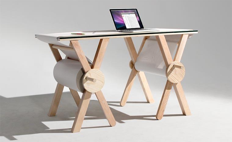 1 Kilometer Schreibtisch-Unterlage analog_memory_desk_01
