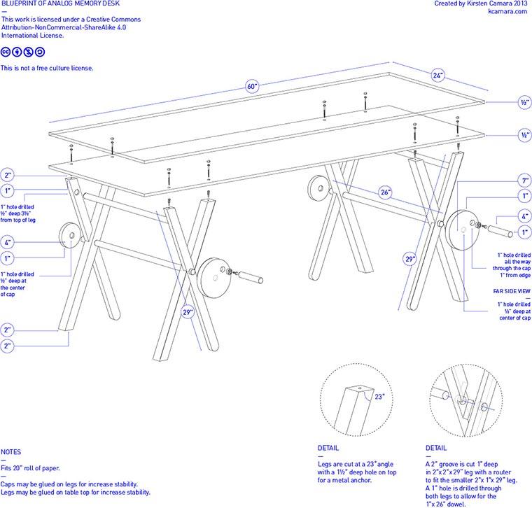 1 Kilometer Schreibtisch-Unterlage analog_memory_desk_04