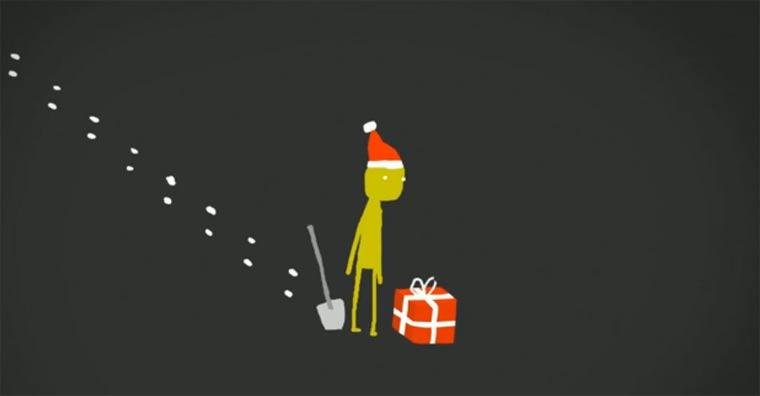Animierte Karte für Weihnachtsmuffel