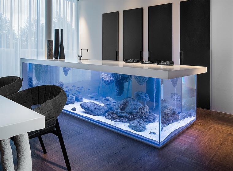 Küchenzeile design  Aquarium-Küchenzeile