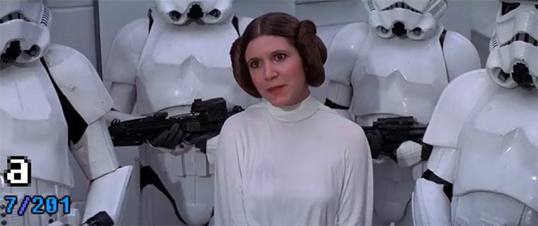 Alphabetisch sortiertes Star Wars