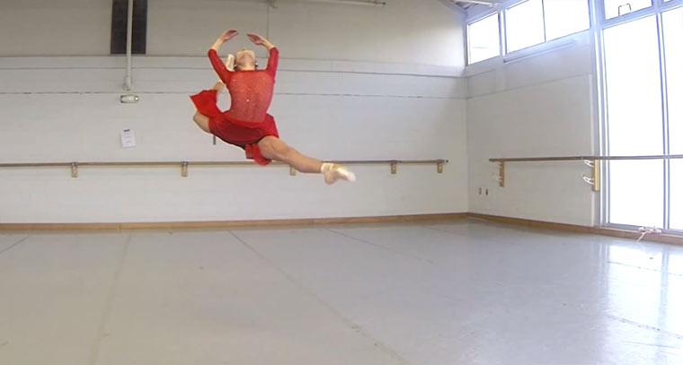 Ballettsprünge in Super-Slowmotion