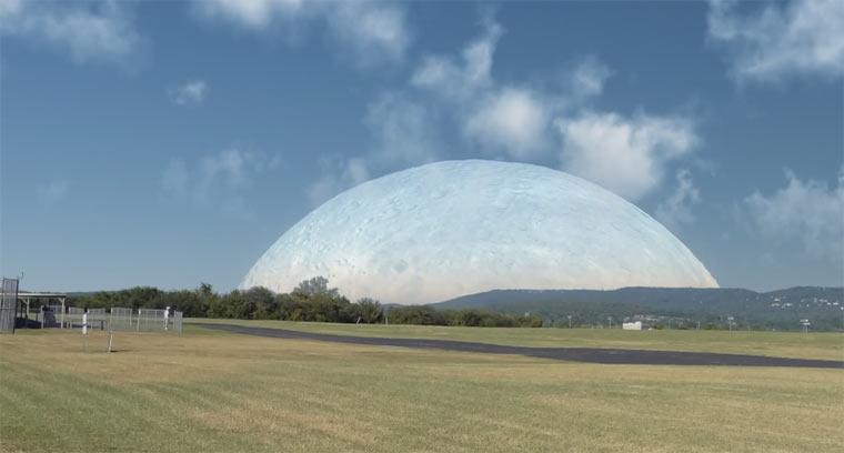 Wäre der Mond so weit entfernt wie die ISS