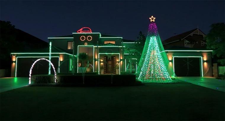 Gangnam Style-Weihnachtsbeleuchtung