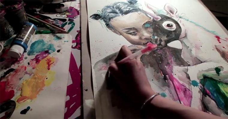 Timelapse Malerei von Lora Zombie