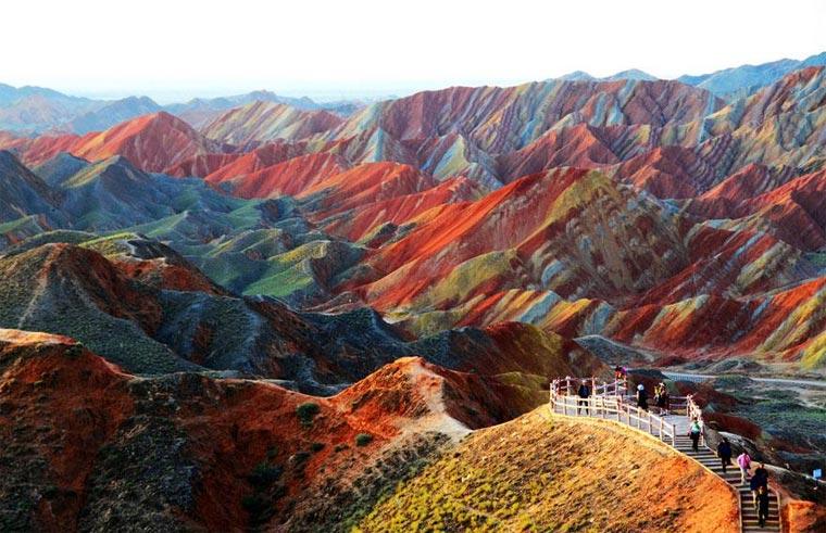Die bunten Berge des Zhangye Danxia