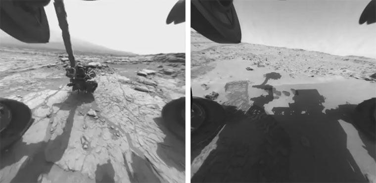 Timelapse: was Curiosity so auf dem Mars macht