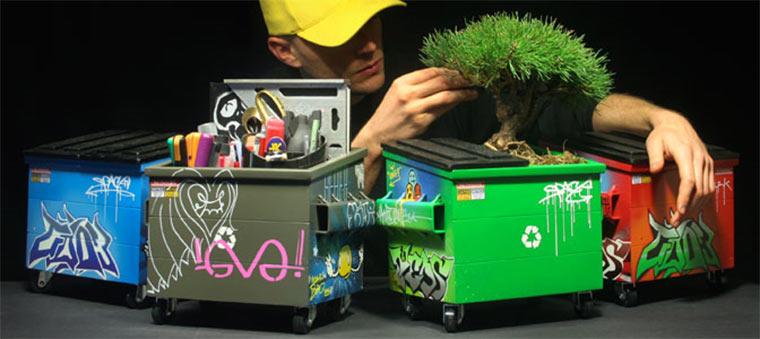 Cool: stylischer Mini-Container für den Schreibtisch