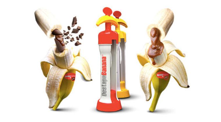 Banane mit Schokokern