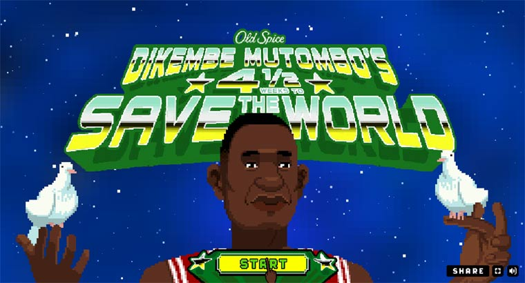 Crazy 8-Bit-Game: Dikembe Mutombo