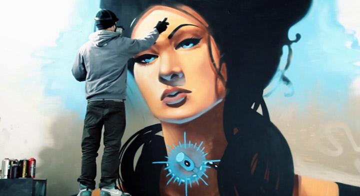 Timelapse-Graffiti: Divine Beauty