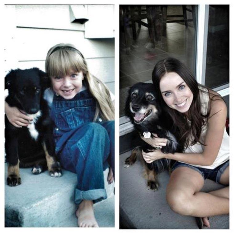 Fotos: Herrchen & Hunde damals & heute