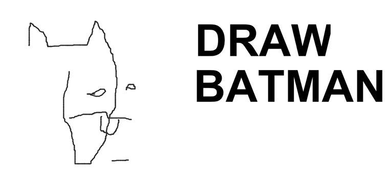 Blind einen Batman malen