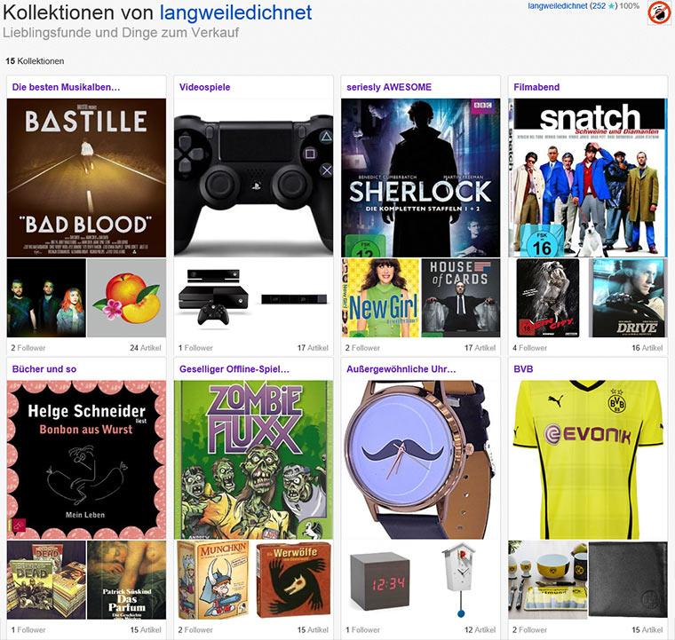 Multimediale eBay-Kollektionen