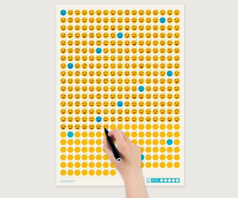 Emoticon-Wandkalender