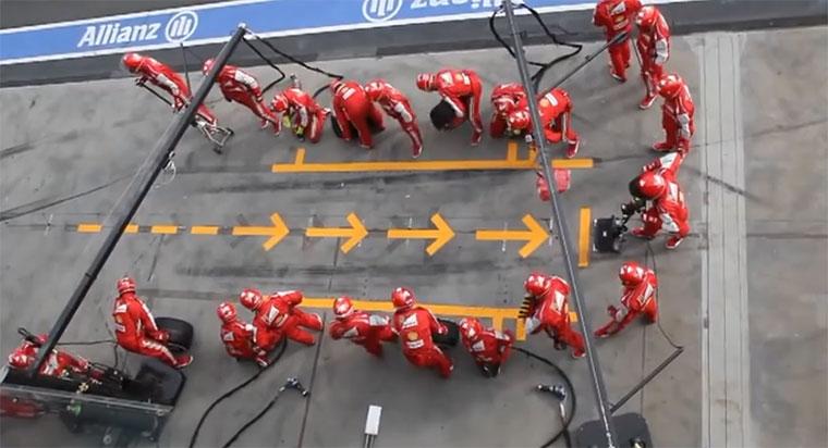 Superschneller F1-Boxenstop