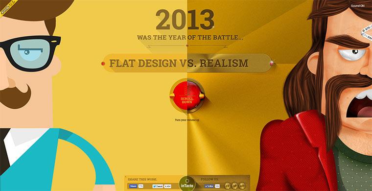 Flat Design vs. Realism