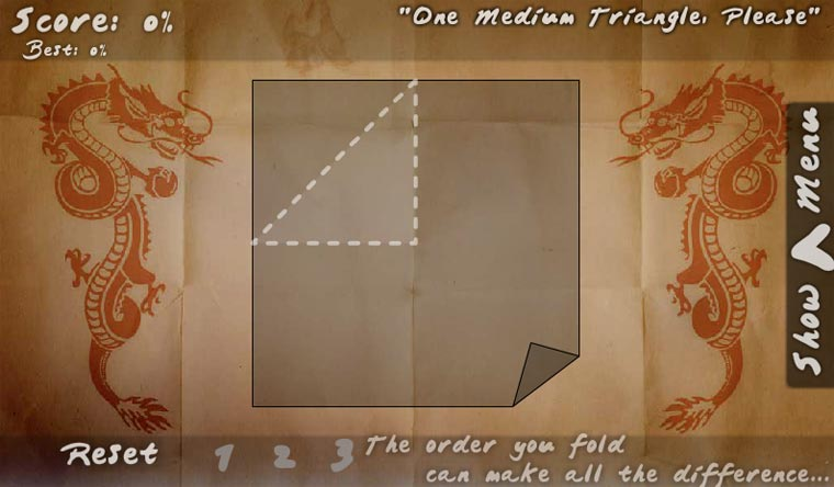 Faltende Spielerei: Folds