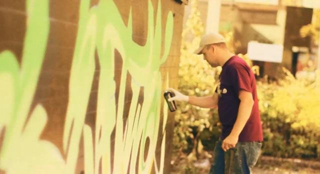 Eine Schule aus Graffiti