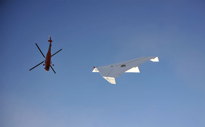 14-Meter-Papierflugzeug