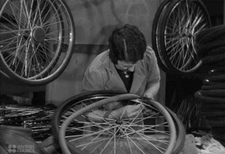 Herstellung eines Fahrrads
