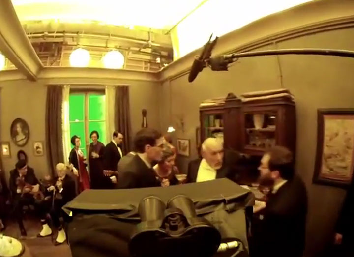 2-minütiger Steadycam-Shot vom Hugo-Set