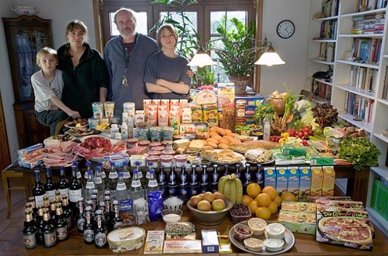 Was Familien binnen einer Woche essen