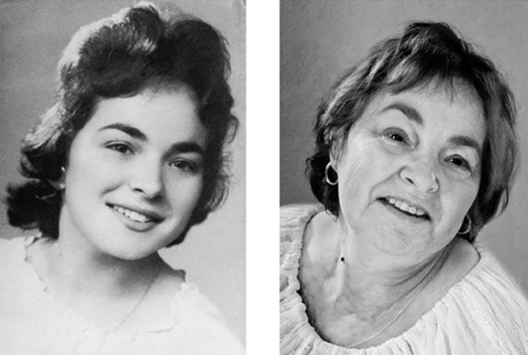 Menschen heute und vor 60 Jahren fotografiert