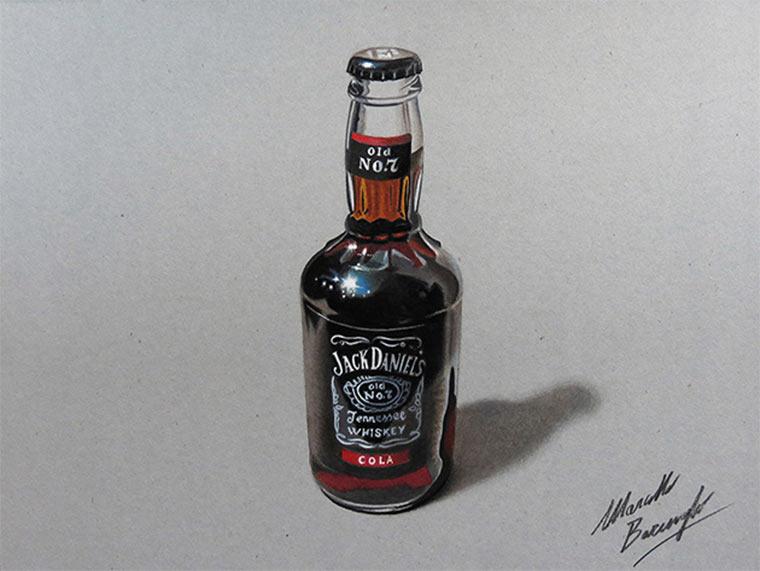 Jack Daniel's & Spiegelei nachgezeichnet