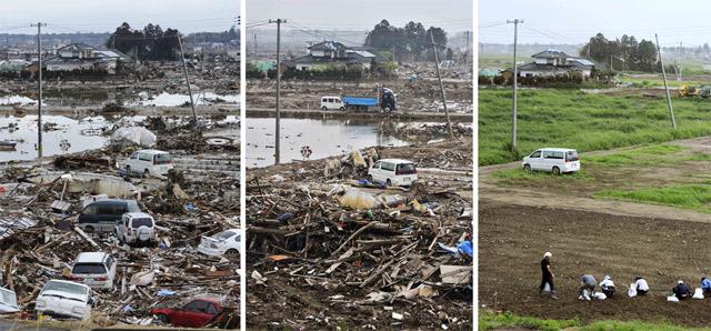 Japan: Nachher-Jetzt-Vergleich