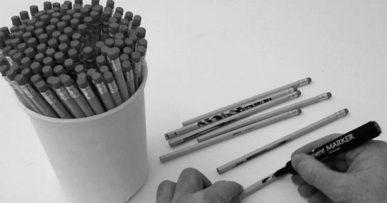 Speed Art: Zeichnung auf Bleistiften