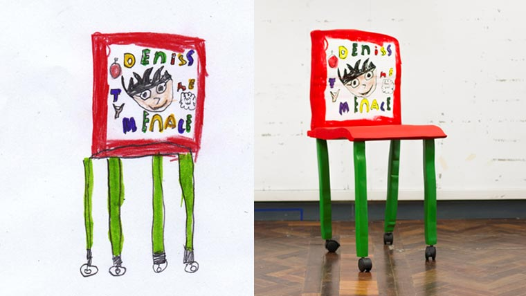 Von Kindern designte Möbel