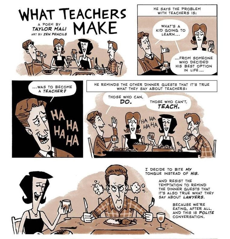 Comic: What makes a teacher?