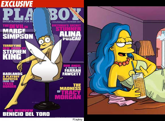 Marge Simpson im Playboy!