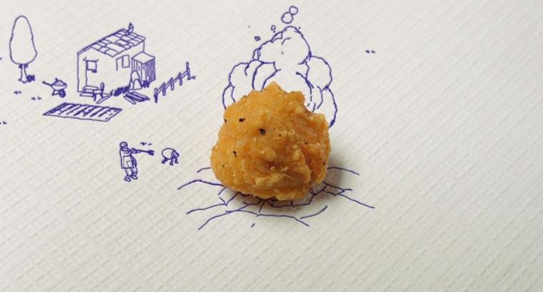 Die heilige Chickenkugel im Miniaturzeichenland