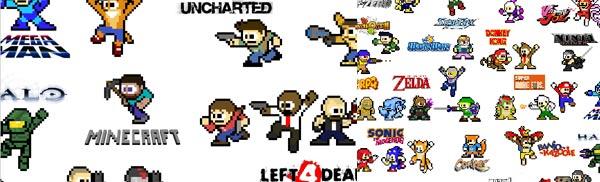 Mega Man-ized Video Game Characters