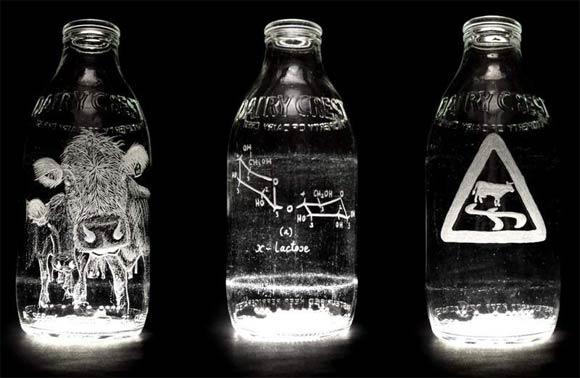 Milchflaschenkunst