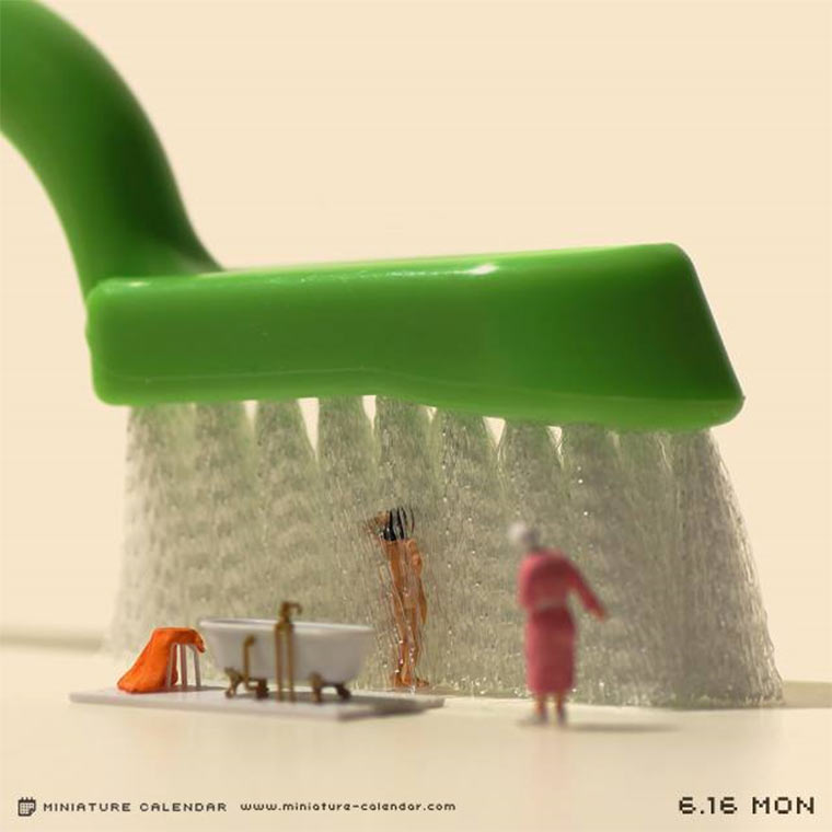 Jeden Tag ein Miniatur-Motiv