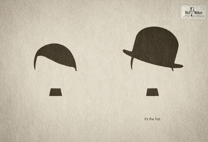 Gute Werbung: minimalistische Print-Motive