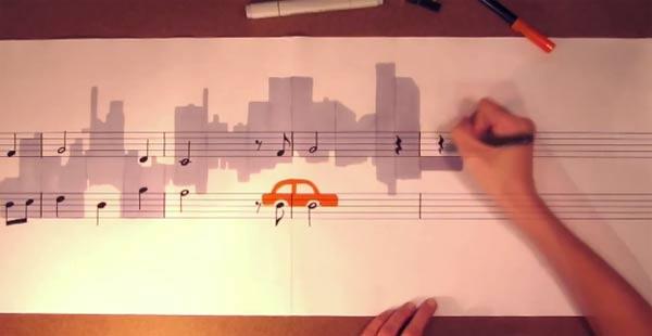 Instant Musiknoten-Maling