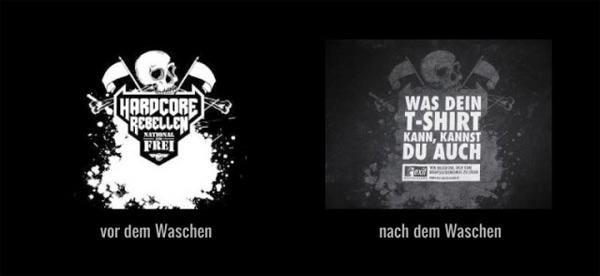T-Shirt waschen gegen Nazis