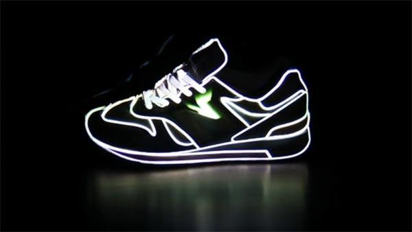 3D-Projektion auf Sneaker