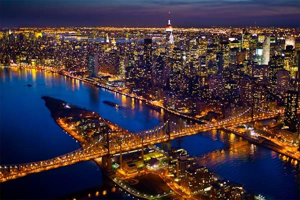 New York City bei Nacht