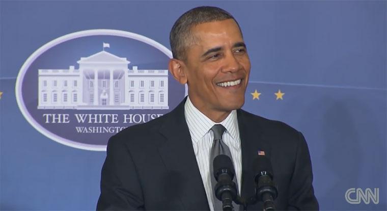 Obama ist und bleibt 'ne coole Socke