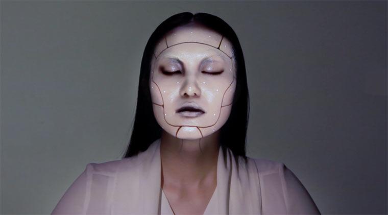 3D-Projektion auf dem Gesicht
