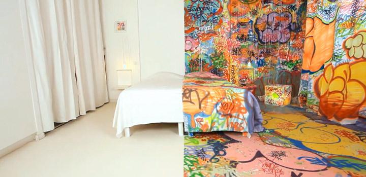 Halb-Graffiti-Hotelzimmer: Making of