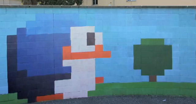 Street-Art: 8-Bit-Animation by Pao